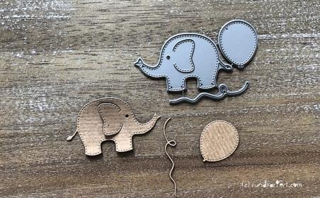 Karte Geburt Junge Elefant