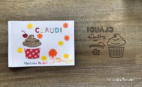 Magic Card Geburtstag Sizzix rundkariert ruka Anleitung distress ink kleben