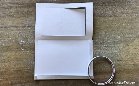 Magic Card Geburtstag Sizzix rundkariert ruka Anleitung doppelseitiges klebeband