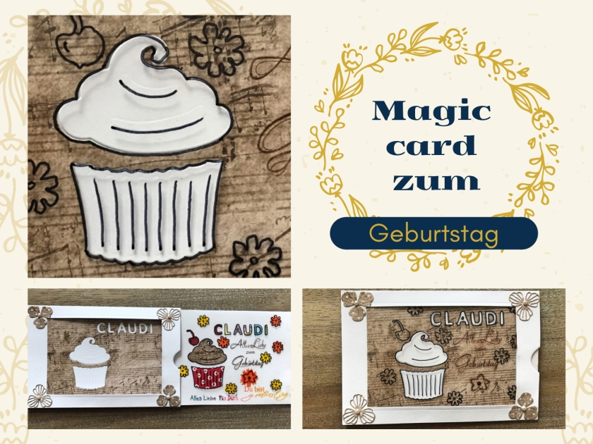 Magic Card Geburtstag Sizzix rundkariert ruka Anleitung Karte