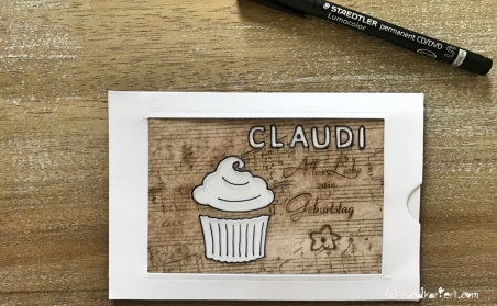Magic Card Geburtstag Sizzix rundkariert ruka Anleitung lumocolor