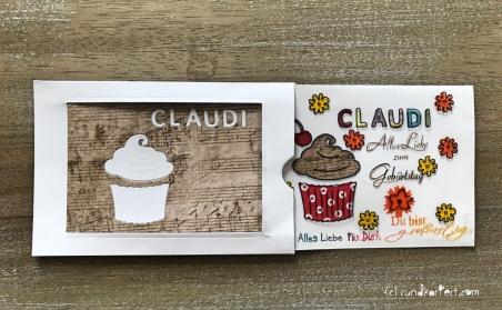 Magic Card Geburtstag Sizzix rundkariert ruka Anleitung origamipapier