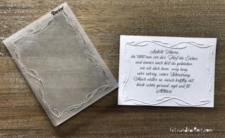 Karte Geburtstag Sizzix Distress Ink rundkariert ruka unikate Anleitung DIY geburtstagsspruch