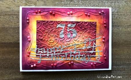 Karte Geburtstag Sizzix Distress Ink rundkariert ruka unikate Anleitung DIY happy birthday halbperlen