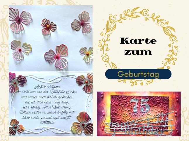 Karte Geburtstag Sizzix Distress Ink rundkariert ruka unikate Anleitung DIY happy birthday