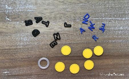 karte zur Einschulung Sizzix personalisiert rundkariert ruka buchstabe