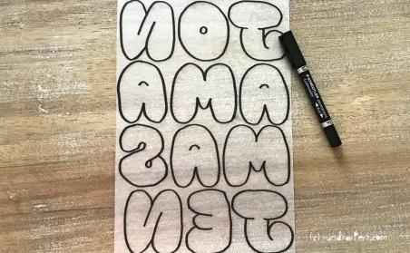 Schrumpffolie Buchstaben Anleitung rundkariert ruka diy konturen zeichnen