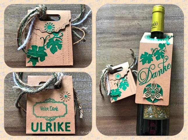 Anleitung Kleines Dankeschön für liebe Freunde Minibox Flaschenanhänger