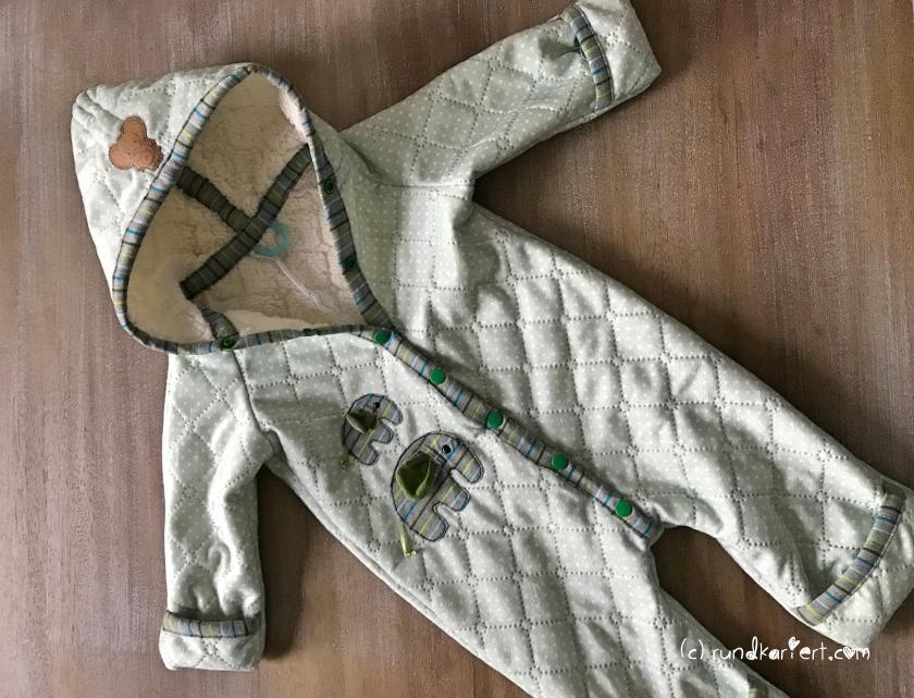 Outdooranzug Baby Schnittmuster Anleitung klimperklein rundkariert