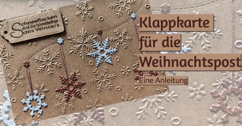 Weihnachtskarte Anleitung Schneeflocken Sterne sizzix rundkariert ruka unikate