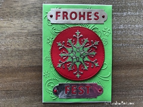 Weihnachtskarte Schneeflocke sizzix Anleitung rundkariert frohes fest weihnachten
