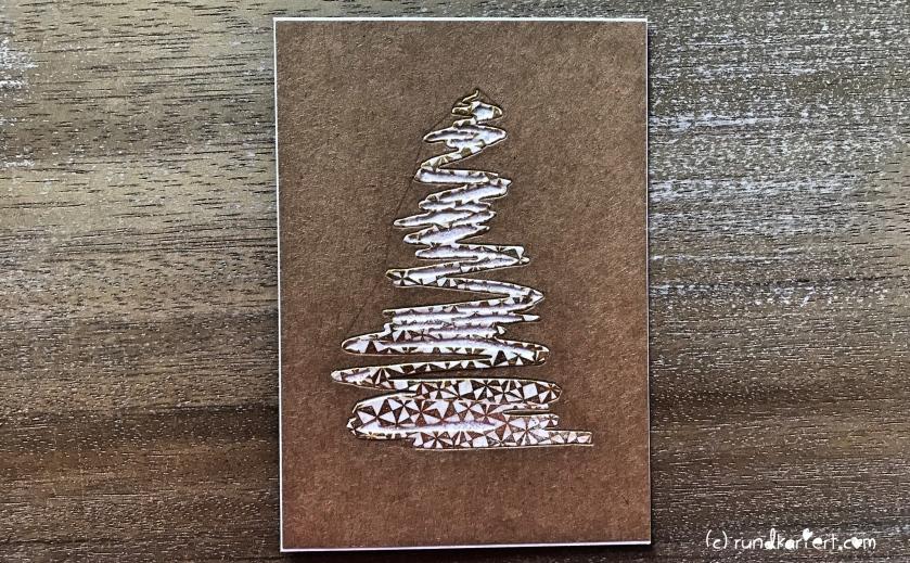Weihnachtskarte Tannenbaum sizzix Anleitung tim holtz Glitzer