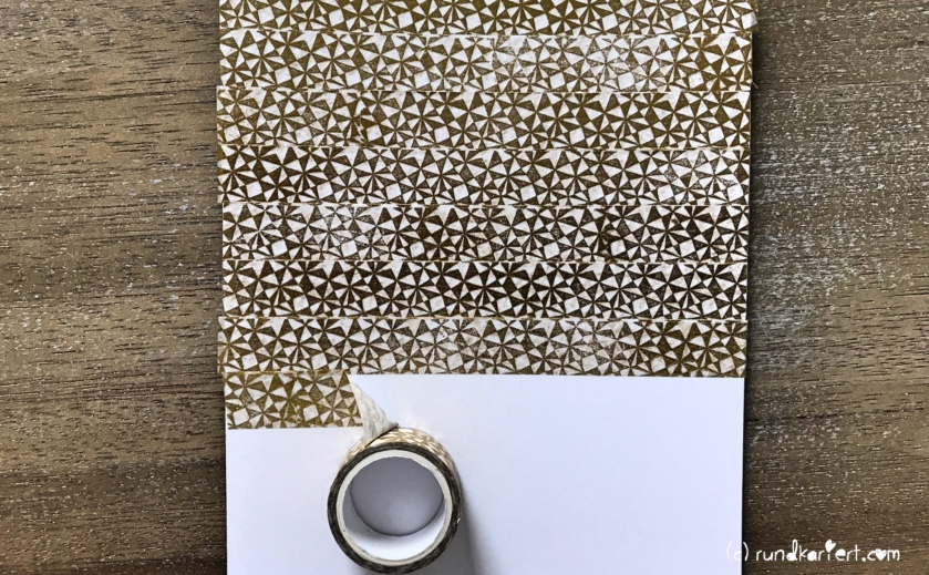 Weihnachtskarte Tannenbaum sizzix Anleitung tim holtz washi tape