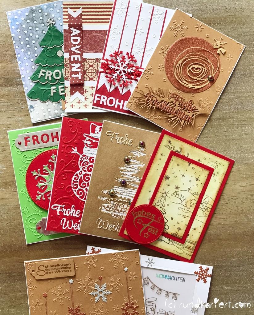 Weihnachtskarten 10er Set
