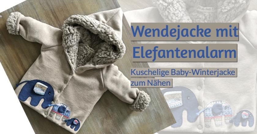 Wendejacke Baby Schnittmuster klimperklein Strickstoff Teddyplüsch
