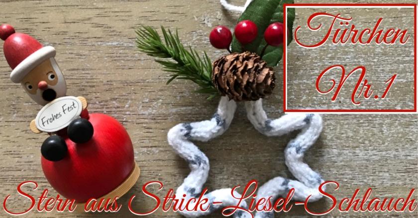Adventskalender Türchen Nr. 1 Sternchen Strick-Liesel rundkariert ruka unikate