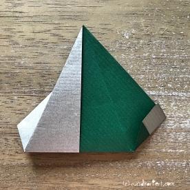 Adventskalender türchen Nr. 2 Origamistern DIY Anleitung rundkariert ruka unikate 10