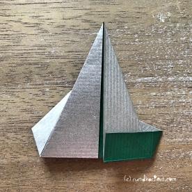 Adventskalender türchen Nr. 2 Origamistern DIY Anleitung rundkariert ruka unikate 11