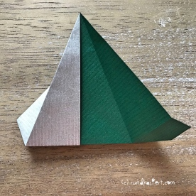 Adventskalender türchen Nr. 2 Origamistern DIY Anleitung rundkariert ruka unikate 12