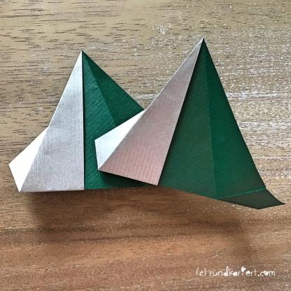 Adventskalender türchen Nr. 2 Origamistern DIY Anleitung rundkariert ruka unikate 13