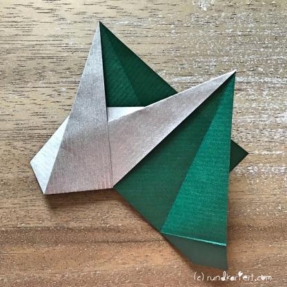 Adventskalender türchen Nr. 2 Origamistern DIY Anleitung rundkariert ruka unikate 15
