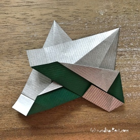 Adventskalender türchen Nr. 2 Origamistern DIY Anleitung rundkariert ruka unikate 16