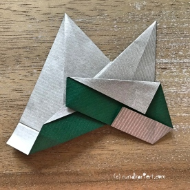 Adventskalender türchen Nr. 2 Origamistern DIY Anleitung rundkariert ruka unikate 18