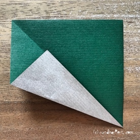 Adventskalender türchen Nr. 2 Origamistern DIY Anleitung rundkariert ruka unikate 2