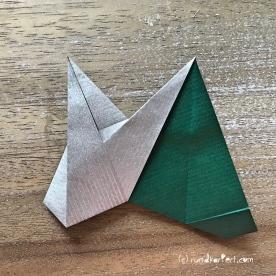 Adventskalender türchen Nr. 2 Origamistern DIY Anleitung rundkariert ruka unikate 20