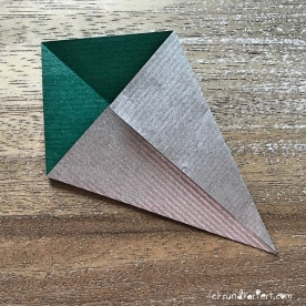 Adventskalender türchen Nr. 2 Origamistern DIY Anleitung rundkariert ruka unikate 3