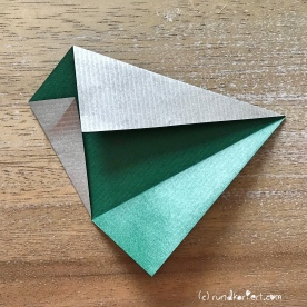 Adventskalender türchen Nr. 2 Origamistern DIY Anleitung rundkariert ruka unikate 5