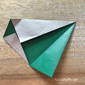 Adventskalender türchen Nr. 2 Origamistern DIY Anleitung rundkariert ruka unikate 7