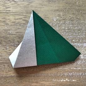 Adventskalender türchen Nr. 2 Origamistern DIY Anleitung rundkariert ruka unikate 9