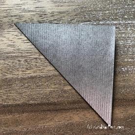 Adventskalender türchen Nr. 2 Origamistern DIY Anleitung rundkariert ruka unikate
