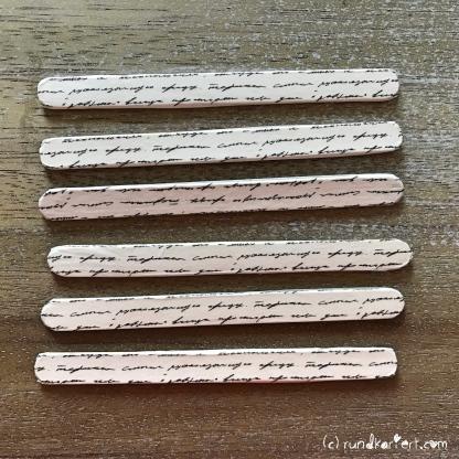 Adventskalender Türchen Nr. 3 Stern Eisstiel Washi Tape Anleitung rundkariert Holzstäbchen