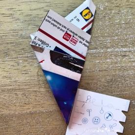 Adventskalender Türchen Nr. 5 3D-Stern Pappe Anleitung DIY 10