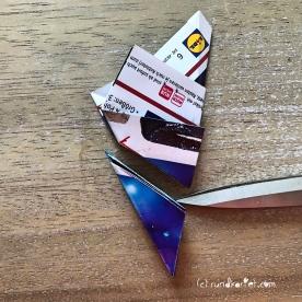 Adventskalender Türchen Nr. 5 3D-Stern Pappe Anleitung DIY 11