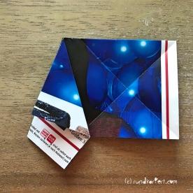 Adventskalender Türchen Nr. 5 3D-Stern Pappe Anleitung DIY 6