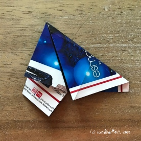Adventskalender Türchen Nr. 5 3D-Stern Pappe Anleitung DIY 7