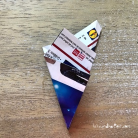 Adventskalender Türchen Nr. 5 3D-Stern Pappe Anleitung DIY 8
