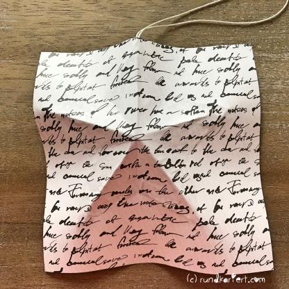 Adventskalender Türchen Nr. 5 3D-Stern Pappe Anleitung DIY Origamipapier