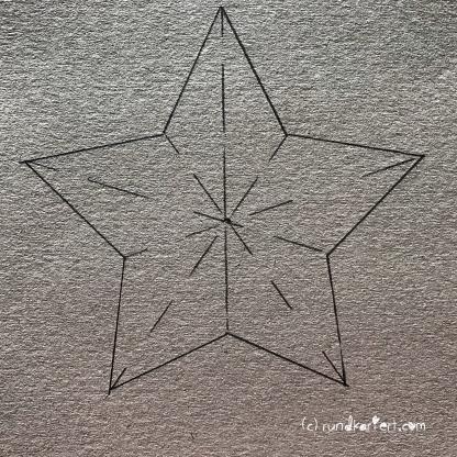 Adventskalender Türchen Nr. 5 3D-Stern Pappe Anleitung DIY rohling 1