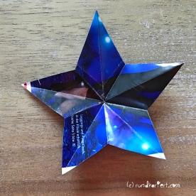 Adventskalender Türchen Nr. 5 3D-Stern Pappe Anleitung DIY Schablone Stern