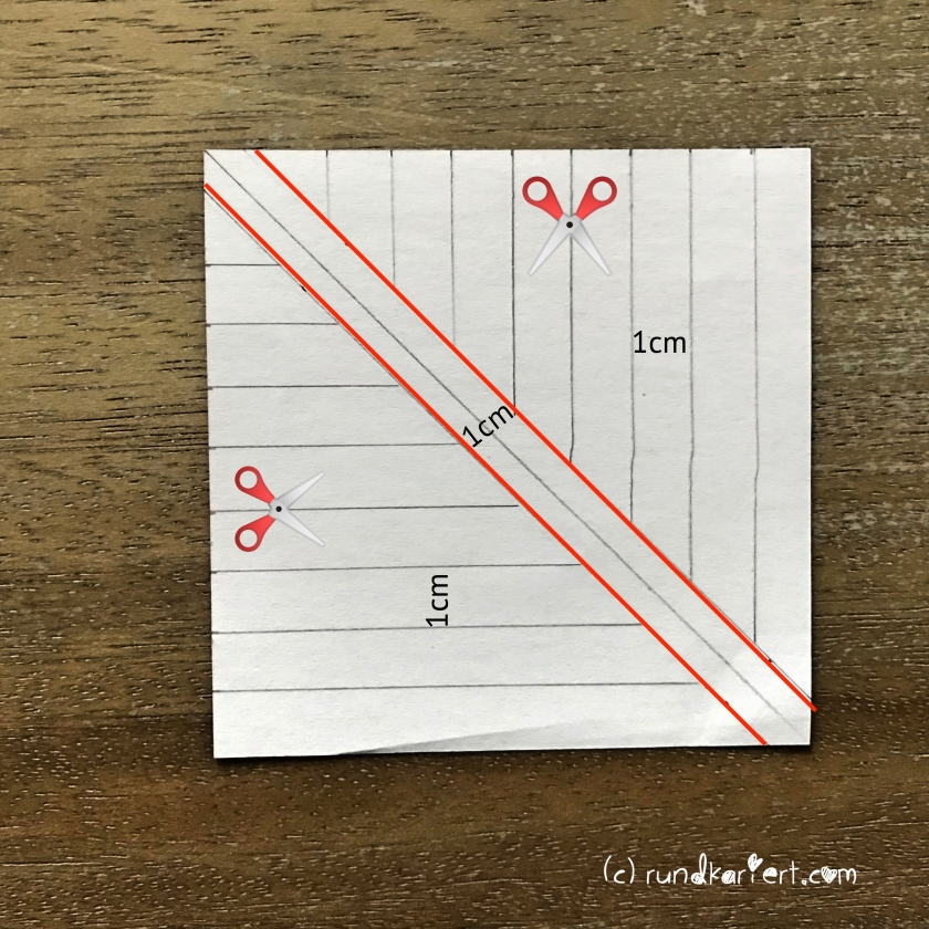 Adventskalender Türchen Nr. 6 Papierstern geschnitten DIY grundelement Schablone zum Schneiden