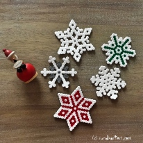 Adventskalender Türchen Nr. 7 Bügelperlen Hama Stern Anleitung Vorlage weihnachten basteln diy
