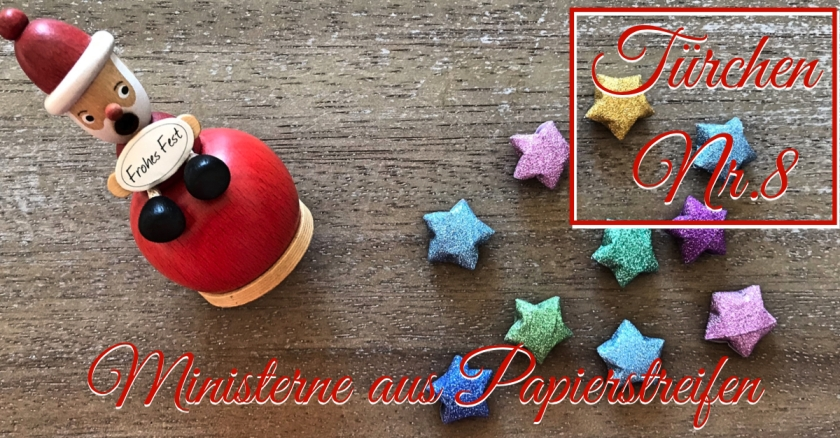 Adventskalender türchen Nr. 8 Ministerne Anleitung Origami diy weihnachten