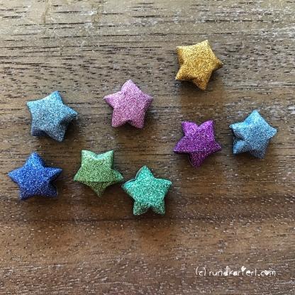 Adventskalender türchen Nr. 8 Ministerne Origami Anleitung diy rundkariert